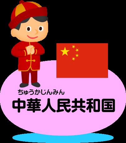 中華人民共和国 比べてみよう!...